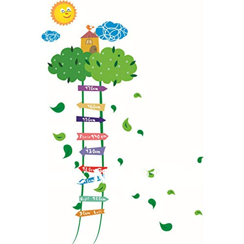 Cczxfcc plantenbomen ladder toename in hoogte meting muur Stickers muur Deco Decal transparante PVC 60X90Cm