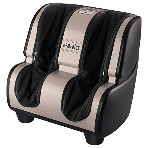 HoMedics, Therapist Select 2.0 Foot and Calf Massager Rolling and Vibration, Heat, 6 Programs, 3 Intensities, Adjustable Tilt, and Washable Liners
