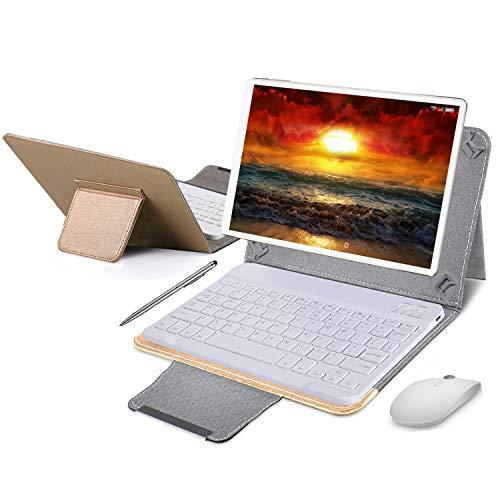 Tablet 10 Pollici con Wifi Offerte 4G Android 9.0 Certificato Google GMS Tablet PC 4GB RAM 64GB/128GB Espandibili 8500mAh Tablet in Offerta Dual SIM 8MP Fotocamera Tablet Android Bluetooth OTG(Oro)
