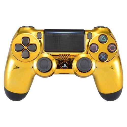 Gold Controller Playstation 4 Dualshock con botones adicionales   X + O  