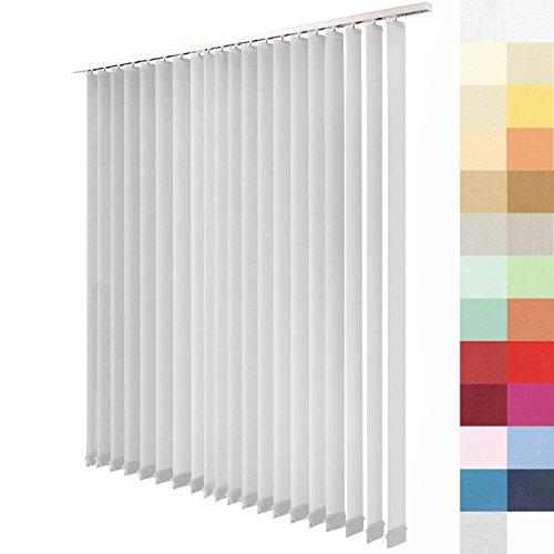 Sun World Lamellenvorhang nach Maß, 27 Farben, alle Größen Lamellen, Maßanfertigung, inkl. Deckenschiene, Schiebevorhang, Vertikaljalousie (Grau, Höhe: 250cm x Breite: 150cm)