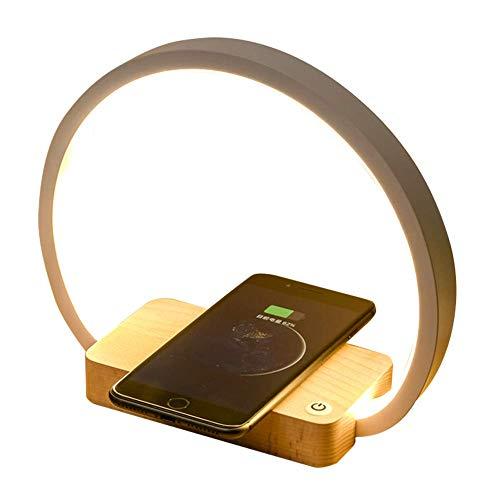 LED Lámpara de cabecera, Cargador Inalámbrico QI sensible al tacto teléfono móvil Luz de mesa ocular LED Lámpara de cabecera creativa Luz de lectura para oficina