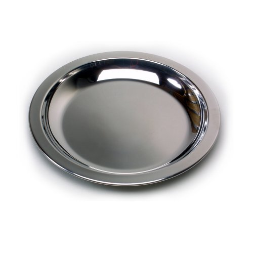 Relags Edelstahlteller Teller, Silber, 23.5 cm