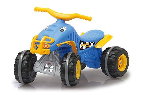 Jamara 460575 Rutscher Little Quad blau-aus robustem Kunststoff, Anhängerkupplung, Ultra-Grip Gummiring an den Rädern