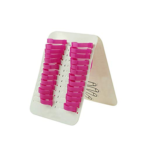 mxdmai 26 piezas/Set de uñas plástico suave protector polaco a prueba de derrames pegatinas de manicura herramienta anti desbordamiento del palillo U Tipo derrame de petróleo del protector de uñas
