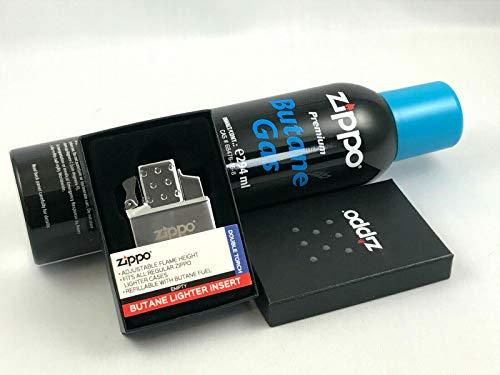 Zippo Feuerzeug Butane Lighter Insert Double Einsatz Original ZIPPO Doppel Jet + 1 ZIPPO Gas