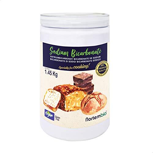 Nortembio Bicarbonato de Sodio Ecológico 1,45 Kg. Grado Alimentario. Especial para Cocinar EBook Incluido.