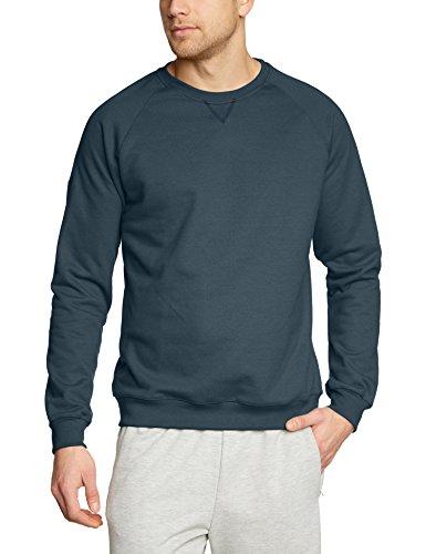 Trigema Herren 675501 Sweatshirt, Blau (Jeans-Melange 643), Medium