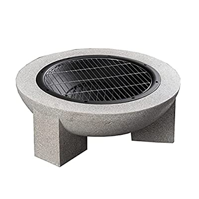Fire Pit Outdoor fire Pit, Garden Wood-Burning Barbecue Grill, 30-inch Heating fire Pit, Garden Terrace Brazier from Lijack