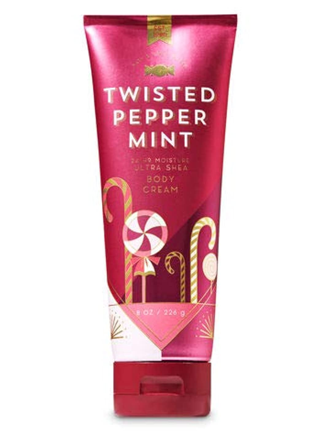 利用可能ビール直径【Bath&Body Works/バス&ボディワークス】 ボディクリーム ツイステッドペパーミント Ultra Shea Body Cream Twisted Peppermint 8 oz / 226 g [並行輸入品]