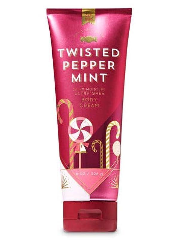ステープル火薬苦行【Bath&Body Works/バス&ボディワークス】 ボディクリーム ツイステッドペパーミント Ultra Shea Body Cream Twisted Peppermint 8 oz / 226 g [並行輸入品]