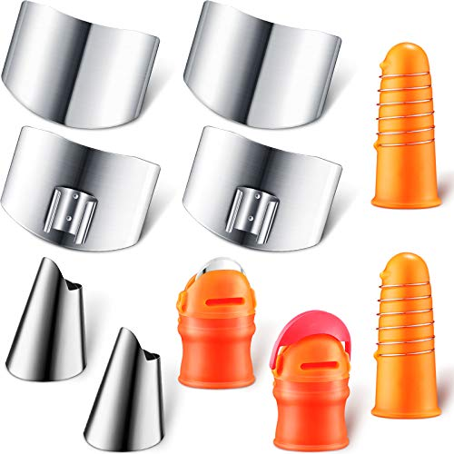 10 Pieces Stainless Steel Finger Gu…
