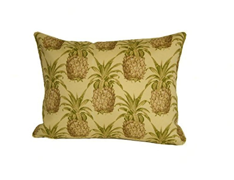 豊かな発音する責めRennie & Rose Pineapple Throw Pillow, 12-Inch by 16-Inch [並行輸入品]