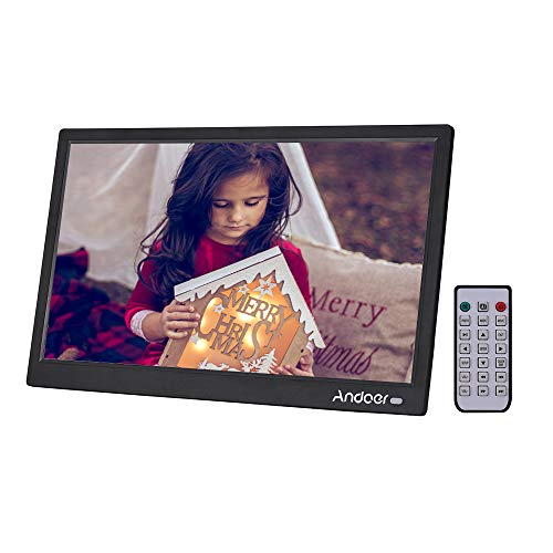 Digital Photo Frame 15.6 Inch, Andoer IPS Digital Picture Frames 1920x1080 Resolution with Remote Control Supports Music/Video/Photo Player/Alarm Clock/Clock/Calendar Functions