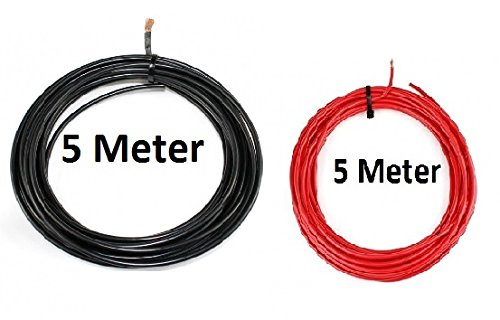Freizeit Wittke KFZ Universalkabel - FLRY Typ B - 4mm² - Set - Schwarz - Rot 5 Meter (1,89 € pro Meter)