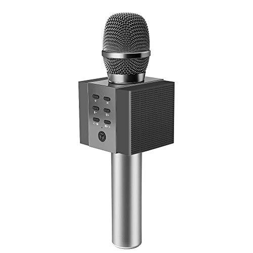 JASZW Kabelloses Karaoke-Mikrofon für Kinder, Bluetooth-Karaoke-Handgerät, Top-Geschenkideen für Geburtstagsfeiern für Teenager und Erwachsene, Überlegene Umgebung,2