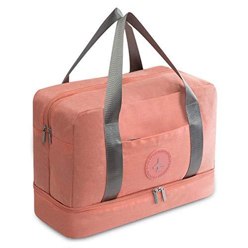 Young & Ming Impermeable Bolsa de Deporte con Compartimento para Zapatos Bolsa de Gimnasio Grande Bolsa de Viaje Bolsa Fin de Semana para Hombre/Mujer, 20L (Naranja)
