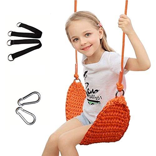 Asiento de swing de red de servicio pesado, columpio antideslizante para niños en interiores y exteriores, adecuado para entrada de patio y patio trasero, portátil, adecuado para juguetes para niños d
