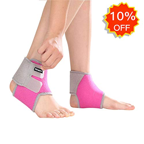 EULANT Ankle Brace Support for Kids, Adjustable Ankle Tendon Compression Brace Foot Support Stabilizer for Basketball Soccer Volleyball Football & Baseball 1 Pair