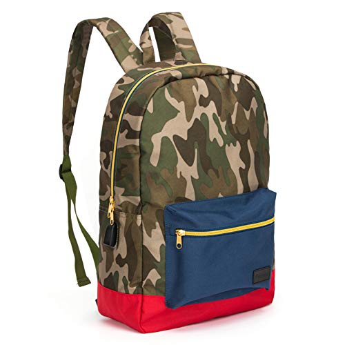 Classic Basic Backpack for Teens, Lightweight Daypack Backpack for School with USB Charging Port,...