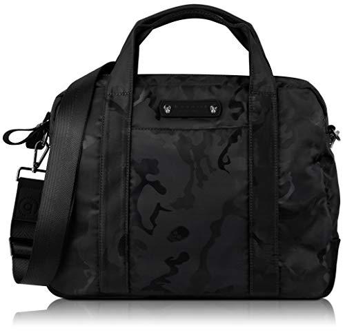 """bugatti Camo Businesstasche für Damen und Herren mit 15"""" Laptopfach, Arbeitstasche Aktentasche Große Bürotasche, Camouflage, Schwarz"""