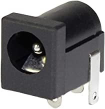 DaierTek 20Pcs 2.5x5.5 mm DC Power Jack Plug Socket Connector 3 Pin Female Type Panel Mount Black with Solder Terminal