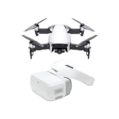 DJI Mavic Air + Goggles Brille - Drohne mit 4K Full-HD Videokamera inkl. Fernsteuerung I 32 Megapixel Bilderqualität und bis 4 km Reichweite - Weiß