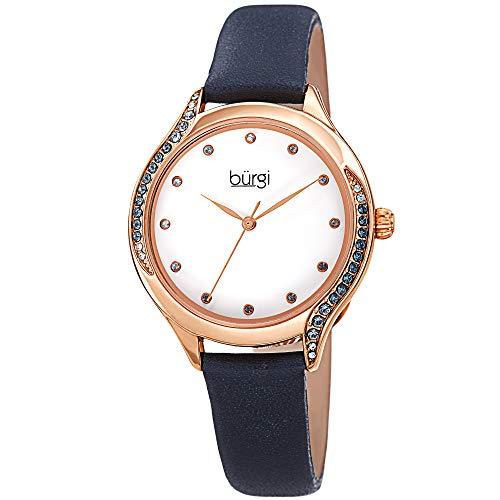 Burgi, orologio da donna con cristalli Swarovski colorati, cinturino...
