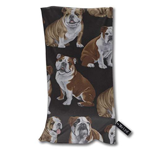 ghkfgkfgk Englische Bulldoggen Handtücher Strandtuch Instant Cool Ice Handtuch Gym Quick Dry Handtuch Mikrofasertuch Kühlung Sporthandtuch 12 X 27,5 Zoll
