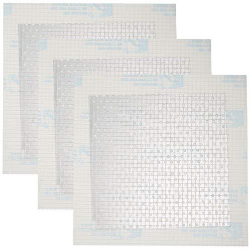 Amazon Basics - Reparaturgewebe für Gipsplatten, 10.1 x 10.1 cm, 3 Stück