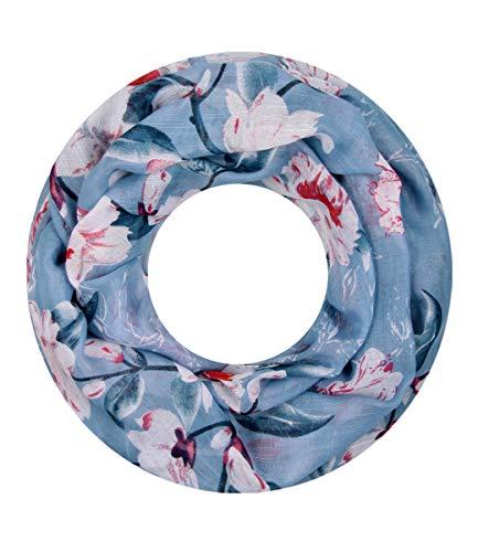 Majea super weicher Damen Loop Schal viele Farben Muster Schlauchschal Halstuch in aktuellen Trendfarben (blau 33)