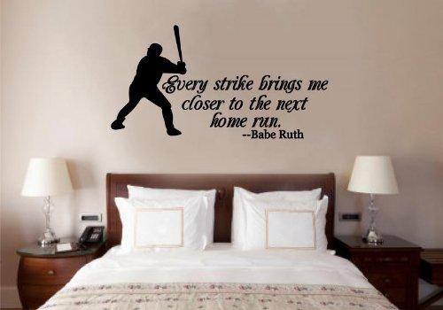 Enchantingly Elegant Baseball Babe Ruth Citation Art Mural en Vinyle Mots Lettrage Autocollant Sports Dcor 30 x 16