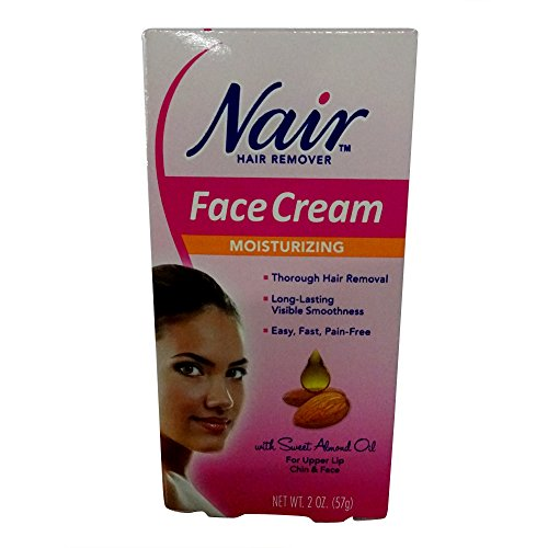 Nair Hair Removal Cream for Face with Special Moisturizers, 2-Ounce Bottles (Pack of 4) by Nair (English Manual)