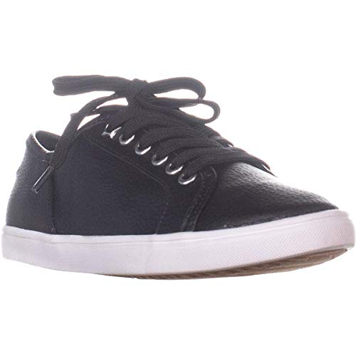 American Rag Womens Melina Low Top Lace Up Fashion Sneakers, Black, Size 6.0