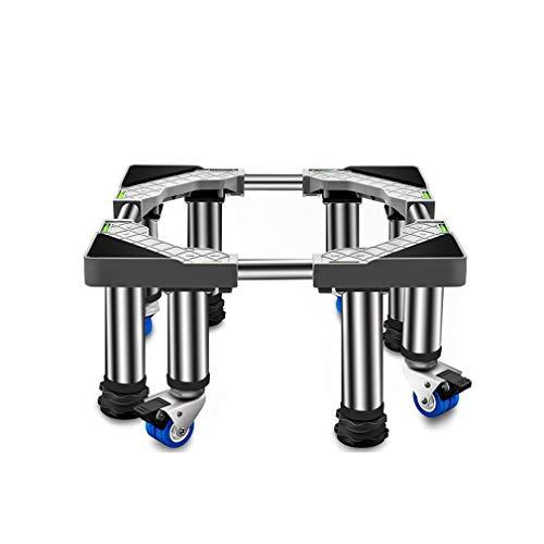 Movible Soporte y Bastidor para Lavadora Pedestal FrigoríFicos para Bastidor Inferior Antideslizante Base para Lavadora Ajustable Ancho 36-55cm Largo 65-80cm (4 Pies 4 Ruedas)