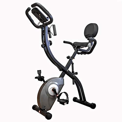 FGONG Vélo d'exercice Vertical magnétique Pliable avec capteur de pouls/Moniteur LCD Vélo de vélo d'intérieur Vélo Stationnaire Vélo d'exercice couché avec Bandes de résistance de Bras