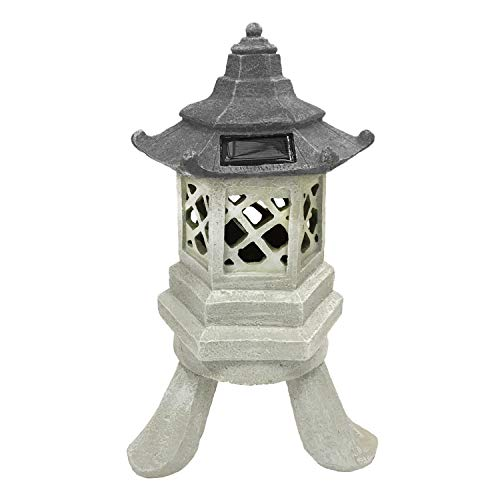CT DISCOUNT STORE Decorate Your Garden with A Cute Asia Style Beautiful Multicolor Solar Hexagon Pagoda