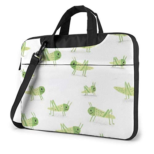 XCNGG Bolso de hombro Computer Bag Laptop Bag Carrying Laptop Case, Grasshopper Pattern Computer Sleeve Cover with Handle, Business Briefcase Protective Bag for Ultrabook, MacBook, Asus, Samsung, Son