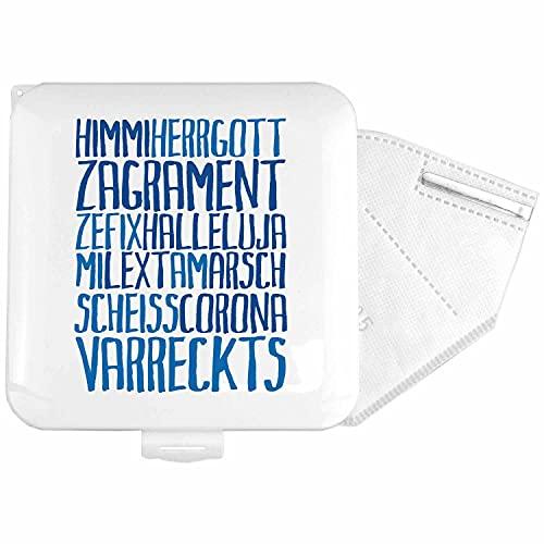 Bavariashop Maskenbox Himmiherrgott, Universelle Hülle mit witziger bayerischer Beschriftung