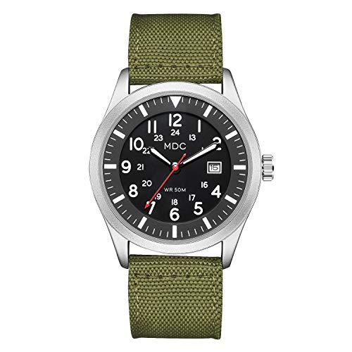 Military Analog Wrist Watch for Men, Mens Army Tactical Field Sport Watches Work Watch, Outdoor Casual Quartz Wristwatch - Imported Japanese Movement, 5ATM Waterproof