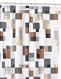 Spirella 1014595 Pixel Duschvorhang 180 x 200 cm grau-braun