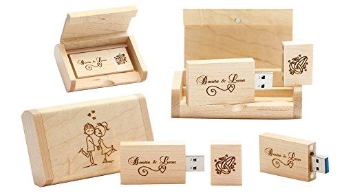 16GB Chiavetta USB personalizzata dalla EVA VALLENTINO Interfaccia USB 2.0 Acero Rettangolare BOBO Eco Flash Drive, ottimo per gli architetti, i designer, la videografia di matrimonio, la fotografia