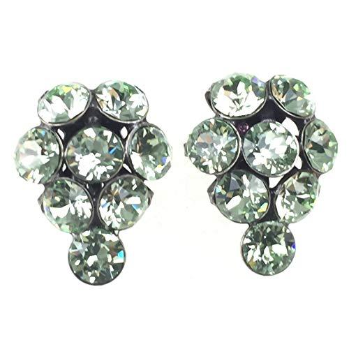 KONPLOTT Magic Fireball Ohrstecker für Damen   Exklusive Designer-Ohrringe mit Swarovski Steinen   Glamouröser Ohrschmuck passend zu jedem Anlass   Handgefertigter Damen-Schmuck   Grün