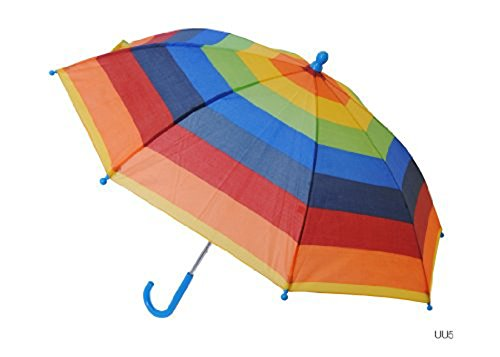 Kids Striped Umbrella Rainbow