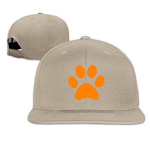 French Bulldog Dog Puppy Paw Unisex Cotton Adjustable Flat Brim Baseball Hats Hip Hop Snapback Visor Cap Comfortable Fit Trucker Hat for Dad Mom