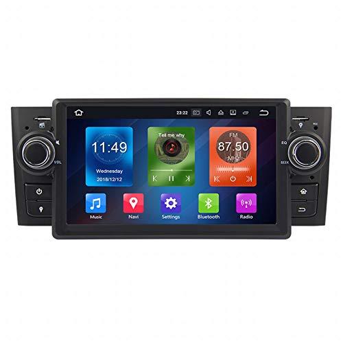 WHL.HH Androide 10.0 En el Tablero 1 DIN Auto Estéreo Autoradio de 7' 8 núcleos Cabeza Unidad Auto Radio Se sentó Nav Auto GPS Navegación por Fíat Linea 2007-2012 / Fíat Grande Punto 2008