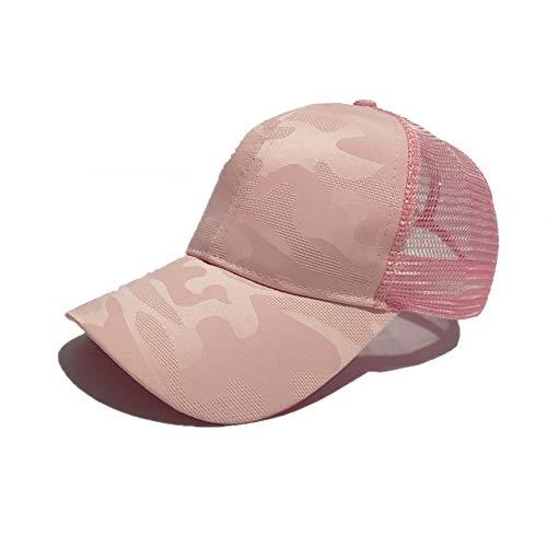 HNGPB - Gorra de béisbol para Mujer, Ajustable, de Malla, Estilo Polo, Estilo clásico, Deportivo, Casual, de Verano, con diseño de Flores oscuras, 6 Colores Rosa Rosa