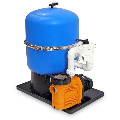 POOL Total Sandfilter Premium GFK Kessel 600mm Pumpe Classic 15, 230V/ Filteranlage/Poolfilter/Anschluss 50mm/ 15m³/ Kessel Ø600mm/ inkl. Mehrwegventil
