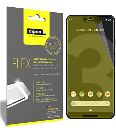dipos I 3X Schutzfolie 100prozent passend für HTC Exodus 1 Folie I 3D Full Cover Bildschirmschutzfolie