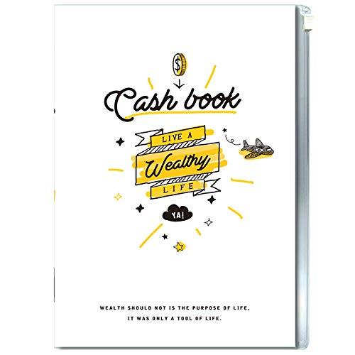 32k libro de ingresos y gastos del hogar, A5 contabilidad de la planificación financiera de esta mujer detalles libro de dinero perezoso, 1pc 1pc 32k Financial Income Book - Blanco